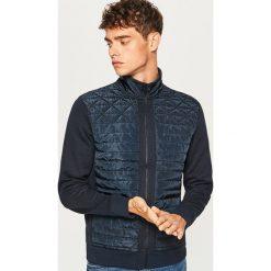 Bluza z pikowanym przodem - Granatowy. Niebieskie bluzy męskie rozpinane marki Reserved, l. Za 99,99 zł.