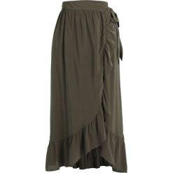 Długie spódnice: Springfield FALDA LARGA VOLANTES Długa spódnica greens