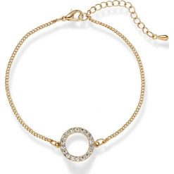 Bransoletka z kryształami Swarovskiego® bonprix pozłacany. Żółte bransoletki damskie na nogę bonprix, pozłacane. Za 37,99 zł.
