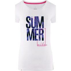 Outhorn Koszulka damska HOL18-TSD618 biała r. L. Białe bluzki damskie Outhorn, l. Za 24,99 zł.