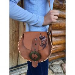 Mała torebka skórzana, skóra naturalna. Brązowe torebki klasyczne damskie marki Pakamera, ze skóry, małe. Za 160,00 zł.