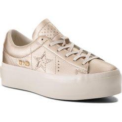 Sneakersy CONVERSE - One Star Platform Ox 559924C Light Gold/Light Gold/Egret. Szare sneakersy damskie marki Converse, z gumy. W wyprzedaży za 299,00 zł.