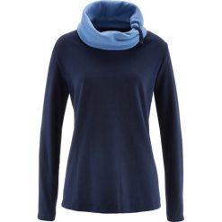Bluza z polaru, długi rękaw bonprix ciemnoniebieski. Niebieskie bluzy polarowe bonprix, z długim rękawem, długie. Za 49,99 zł.
