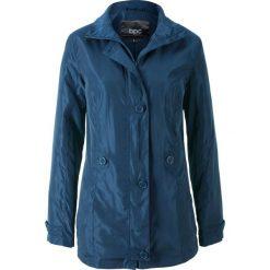 Płaszcz bonprix ciemnoniebieski. Zielone płaszcze damskie marki bonprix, w kropki, z kopertowym dekoltem, kopertowe. Za 59,99 zł.