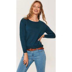 Sweter z asymetrycznym dołem - Khaki. Szare swetry klasyczne damskie marki Mohito, l, z asymetrycznym kołnierzem. Za 59,99 zł.