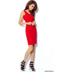 SUKIENKA LINDA czerwony. Niebieskie sukienki mini marki bonprix, z nadrukiem, na ramiączkach. Za 139,00 zł.