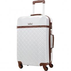 Walizka w kolorze białym - 97 l. Białe walizki marki Platinium, z materiału. W wyprzedaży za 329,95 zł.