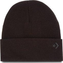 Czapka CONVERSE - 609829 Black. Czarne czapki zimowe damskie Converse, z materiału. Za 89,00 zł.