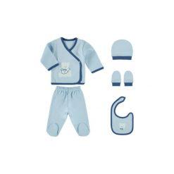 Śliniaki: HÜTTE & CO Boys Zestaw ciuszków 5-częściowy,0-4M, kolor niebieski