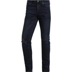 Topman RENEE Jeans Skinny Fit dark blue. Niebieskie jeansy męskie Topman. Za 249,00 zł.
