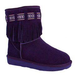 Skórzane botki w kolorze granatowym. Niebieskie buty zimowe damskie Carla Samuel, na zimę. W wyprzedaży za 259,95 zł.