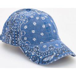 Czapka z daszkiem - Granatowy. Niebieskie czapki z daszkiem damskie Reserved. Za 39,99 zł.