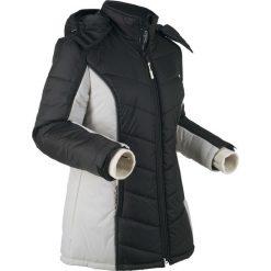 Kurtka funkcyjna outdoorowa, pikowana bonprix czarno-srebrny. Zielone kurtki damskie pikowane marki bonprix, w kropki, z kopertowym dekoltem, kopertowe. Za 189,99 zł.