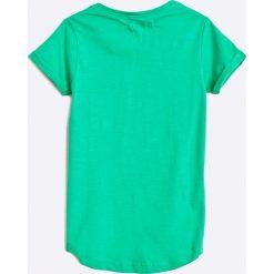 Blue Seven - Top dziecięcy 92-128 cm. Niebieskie bluzki dziewczęce Blue Seven, z nadrukiem, z bawełny, z okrągłym kołnierzem, z krótkim rękawem. W wyprzedaży za 29,90 zł.