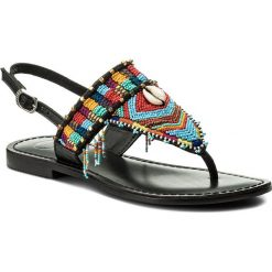 Japonki GIOSEPPO - 45296 Black. Czarne sandały damskie Gioseppo, z materiału, na obcasie. Za 239,00 zł.