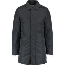 Knowledge Cotton Apparel RIB STOP FUNCTIONAL Krótki płaszcz phantom. Czarne prochowce męskie Knowledge Cotton Apparel, m, z materiału. W wyprzedaży za 454,05 zł.