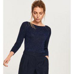Sweter z błyszczącą nitką - Granatowy. Niebieskie swetry klasyczne damskie Reserved, l. Za 69,99 zł.