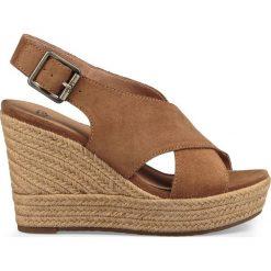 Rzymianki damskie: Sandały na koturnie, skórzane Harlow