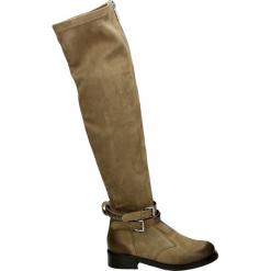 Kozaki - 190511126154E. Brązowe buty zimowe damskie Venezia, z nubiku. Za 519,00 zł.