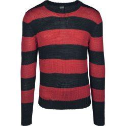 Urban Classics Striped Sweater Sweter z dzianiny czarny/czerwony. Niebieskie swetry klasyczne męskie marki Urban Classics, l, z okrągłym kołnierzem. Za 199,90 zł.