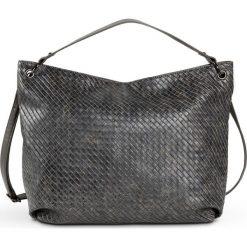 Shopper bag damskie: Torba shopper pleciona bonprix szary metaliczny