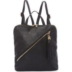 """Plecaki damskie: Skórzany plecak """"Mia"""" w kolorze czarnym – 27 x 31 x 11 cm"""