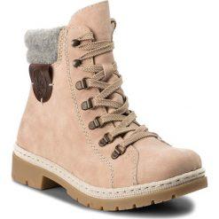 Trapery RIEKER - Y9430-32 Rosa. Czerwone buty zimowe damskie Rieker, z materiału. Za 269,00 zł.