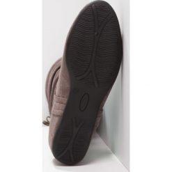 Anna Field Kozaki na koturnie grey. Czarne buty zimowe damskie marki Born2be, z materiału, z okrągłym noskiem, na niskim obcasie, na koturnie. W wyprzedaży za 135,20 zł.