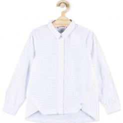 Bluzka. Niebieskie bluzki dziewczęce bawełniane marki bonprix, z długim rękawem, długie. Za 54,90 zł.