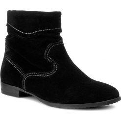 Botki TAMARIS - 1-25005-29 Black 001. Czarne botki damskie na obcasie marki Tamaris, z polaru. W wyprzedaży za 179,00 zł.