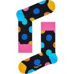Happy Socks - Skarpety Smile. Różowe skarpetki męskie Happy Socks, z bawełny. W wyprzedaży za 27,90 zł.