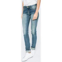 Hilfiger Denim - Jeansy. Niebieskie jeansy damskie marki Hilfiger Denim, z bawełny, z obniżonym stanem. W wyprzedaży za 269,90 zł.