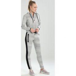 Bluzy rozpinane damskie: Superdry SPORT GYM TECH LUXE CROP HOOD Bluza z kapturem grey slub