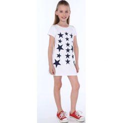 Sukienka dziewczęca w gwiazdki biała NDZ8244. Szare sukienki dziewczęce marki Fasardi. Za 49,00 zł.
