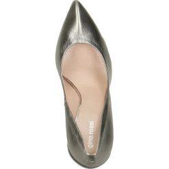 Czółenka ANET. Szare buty ślubne damskie Gino Rossi, ze skóry, na wysokim obcasie, na szpilce. Za 249,90 zł.