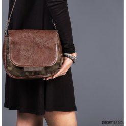 BAMBI - mała torebka - moro. Czarne torebki klasyczne damskie marki Pakamera, moro, z tkaniny, małe. Za 129,00 zł.
