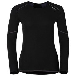 Odlo Koszulka tech. Odlo Shirt l/s crew neck X-WARM - 155161 - 155161XS. Czarne topy sportowe damskie marki Odlo, l. Za 229,95 zł.