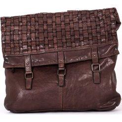 Plecaki damskie: Skórzany plecak w kolorze brązowym – 37 x 34 x 9 cm