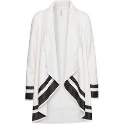 Płaszcz bonprix biało-czarny. Białe płaszcze damskie bonprix. Za 189,99 zł.