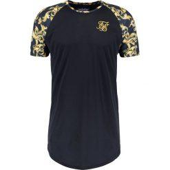 T-shirty męskie z nadrukiem: SIKSILK SIKSILK CURVED HEM Tshirt z nadrukiem black/gold venetian