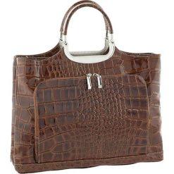 Torebki klasyczne damskie: Skórzana torebka w kolorze brązowym – 37 x 37 x 10 cm