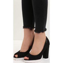 Buty ślubne damskie: Czarne Czółenka Crocea