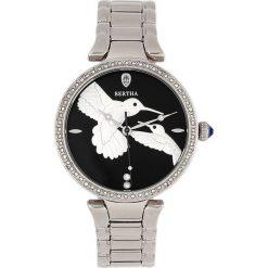 """Zegarki damskie: Zegarek kwarcowy """"Nora"""" w kolorze srebrno-czarnym"""