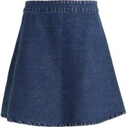 Spódniczki jeansowe: Mads Nørgaard STELLY SHORT Spódnica trapezowa washed indigo