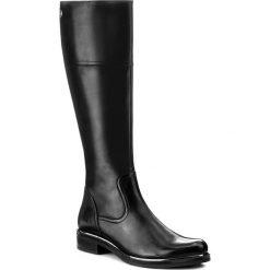 Oficerki CAPRICE - 9-25522-29 Black Nappa 022. Czarne kozaki damskie na obcasie marki Caprice, ze skóry. W wyprzedaży za 409,00 zł.