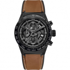 ZEGAREK TAG HEUER CARRERA CAR2A91.FT6121. Czarne zegarki męskie TAG HEUER, ceramiczne. Za 25090,00 zł.