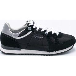 Pepe Jeans - Buty. Czarne buty skate męskie Pepe Jeans, z jeansu, na sznurówki. W wyprzedaży za 219,90 zł.