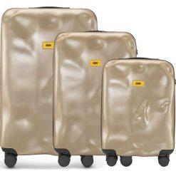 Walizki Icon w zestawie 3 el. złoty. Szare walizki marki Crash Baggage, z materiału. Za 2628,00 zł.