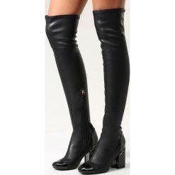 Czarne Kozaki Midnight Hour. Czarne buty zimowe damskie vices, na wysokim obcasie. Za 89,99 zł.