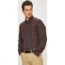 Pierre Cardin - Koszula. Brązowe koszule męskie na spinki marki Pierre Cardin, l, z bawełny, z klasycznym kołnierzykiem, z długim rękawem. W wyprzedaży za 229,90 zł.